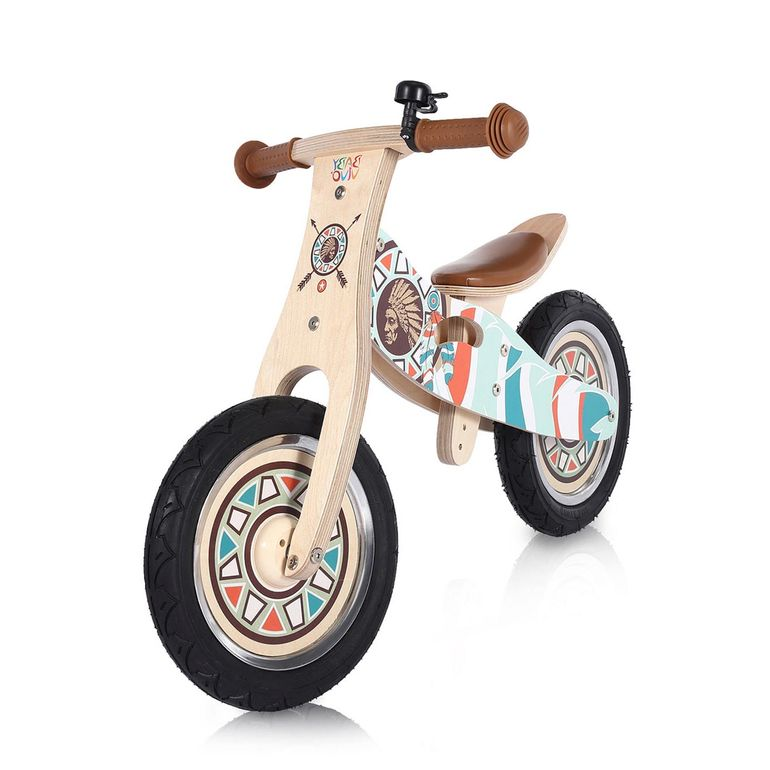Baby Vivo 12 inch balance bike / trainer bike made of wood with bike bell - Winnie