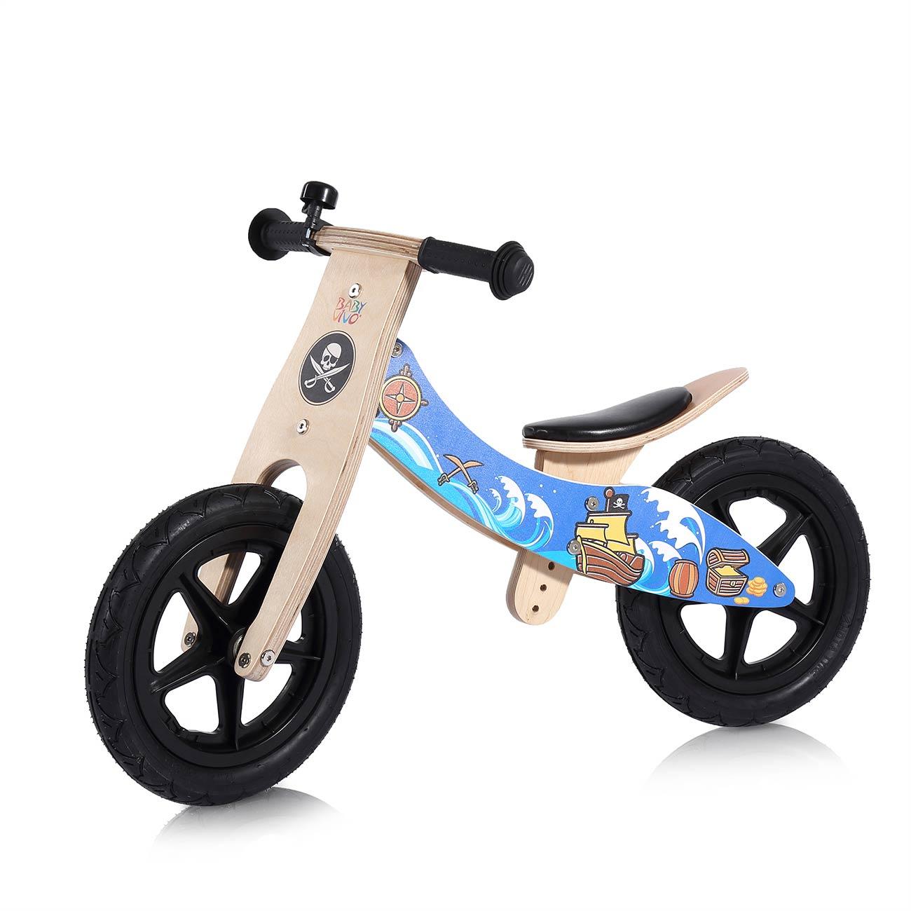 baby vivo 12 zoll kinderlaufrad laufrad aus holz mit klingel jack baby kind spielzeug. Black Bedroom Furniture Sets. Home Design Ideas