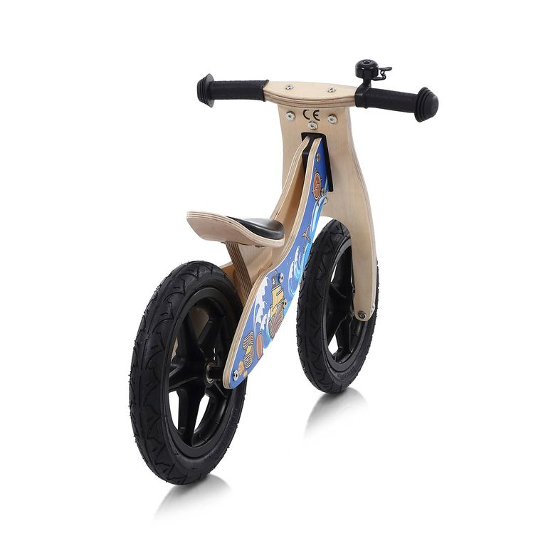 Baby Vivo 12 Zoll Kinderlaufrad / Laufrad aus Holz mit Klingel - Jack – Bild 4