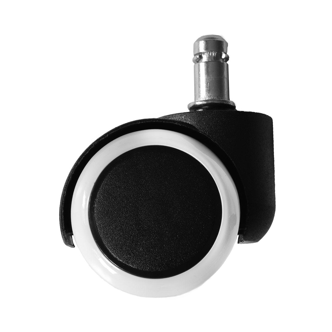 2 adatte a tutti i pavimenti SCHUSTAR USE/® antigraffio e su misura ruote silenziose per sedie da ufficio, set di ruote per pavimenti duri varianti 10 mm e 11 mm 5