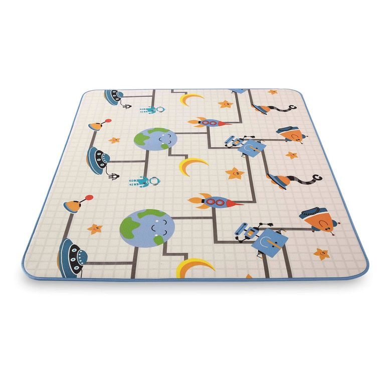 Baby Vivo Two-sided play mat for kids with letters 200 x 180 cm - Galaxy – Bild 3