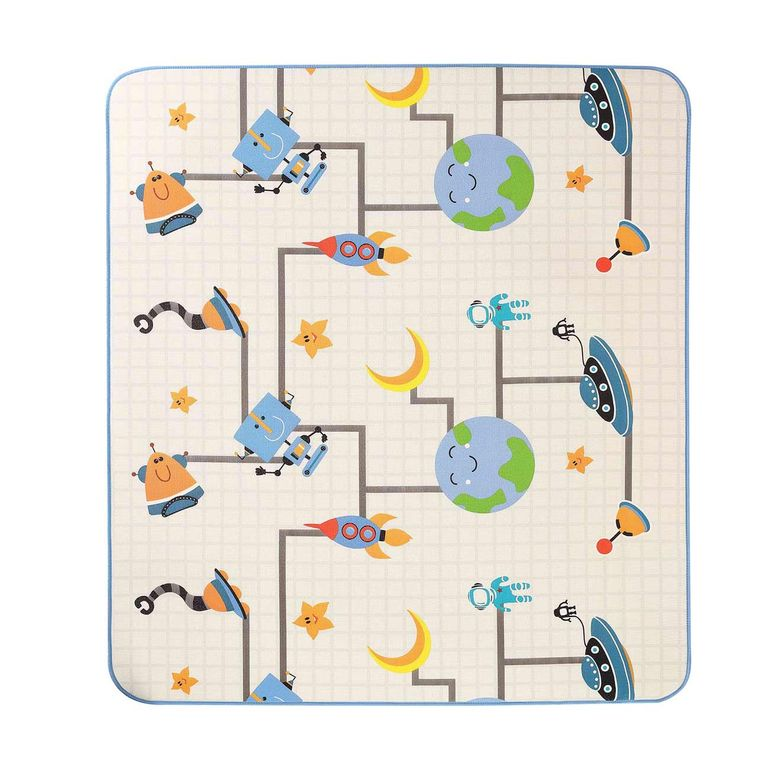 Baby Vivo Two-sided play mat for kids with letters 200 x 180 cm - Galaxy – Bild 10
