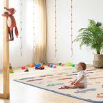 Baby Vivo Spielmatte / Spielteppich für Kinder doppelseitig mit Alphabet 180 x 150 cm - Cars 001