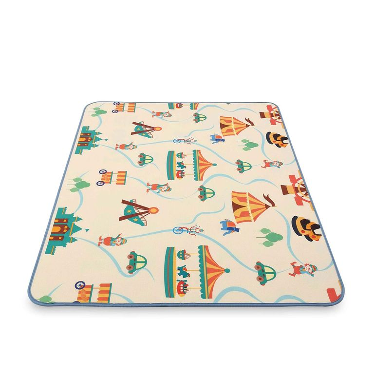 Baby Vivo Two-sided play mat for kids with letters 200 x 150 cm - Circus – Bild 3