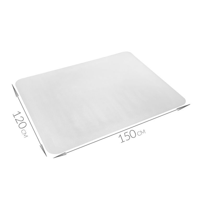 MY SIT 120 x 150 cm Floor mat / Office chair Underlay transparent for hard floors – Bild 3