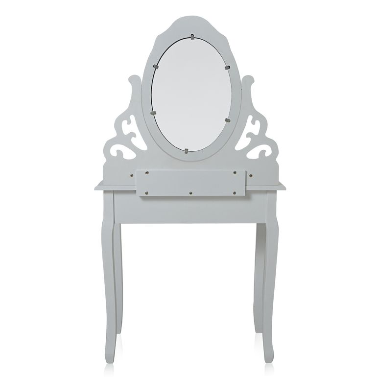 Makika Dressing table / Make-up table ZOE with rotatable mirror and padded stool – Bild 4