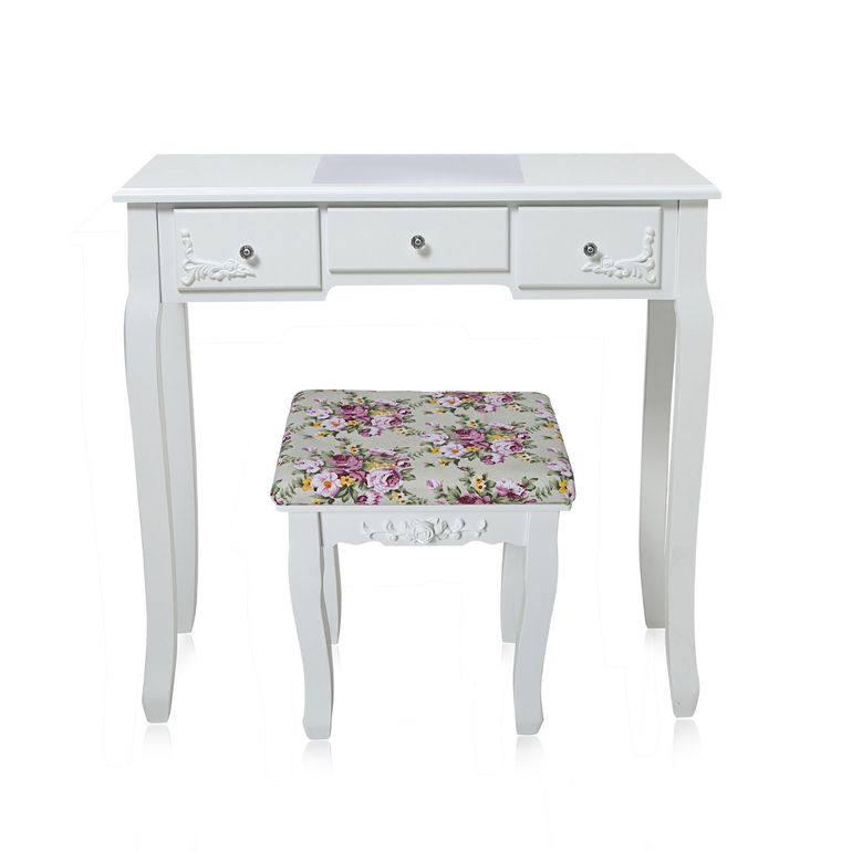 Makika Dressing table / Make-up table CARA with rotatable mirror and padded stool – Bild 13