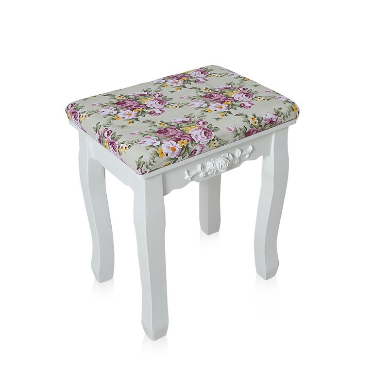 Makika Dressing table / Make-up table CARA with rotatable mirror and padded stool – Bild 15