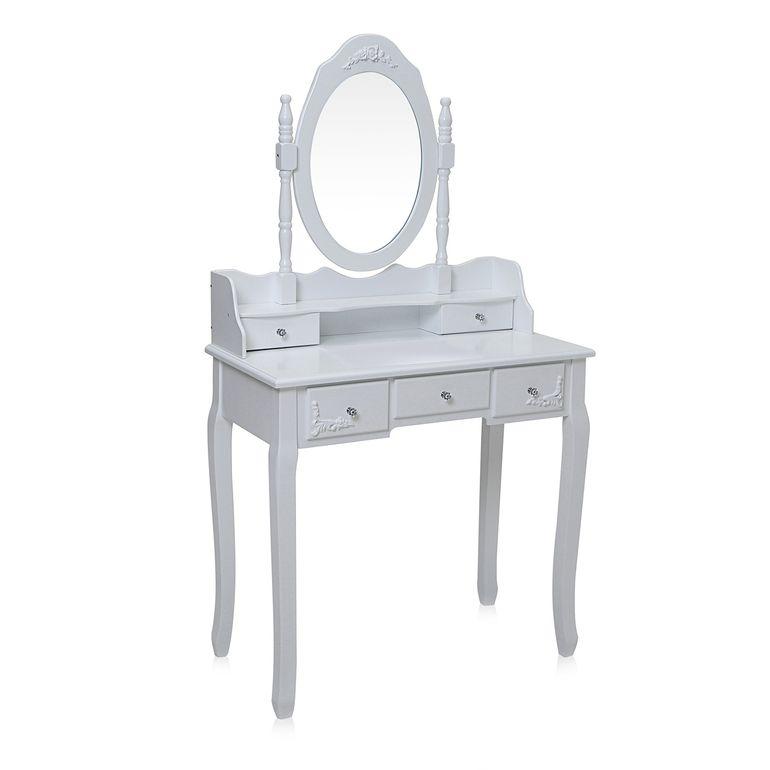 Makika Toeletta per il trucco / Tavolo Cosmetici CARA con Specchiera girevole a 360° e Sgabello – Bild 3