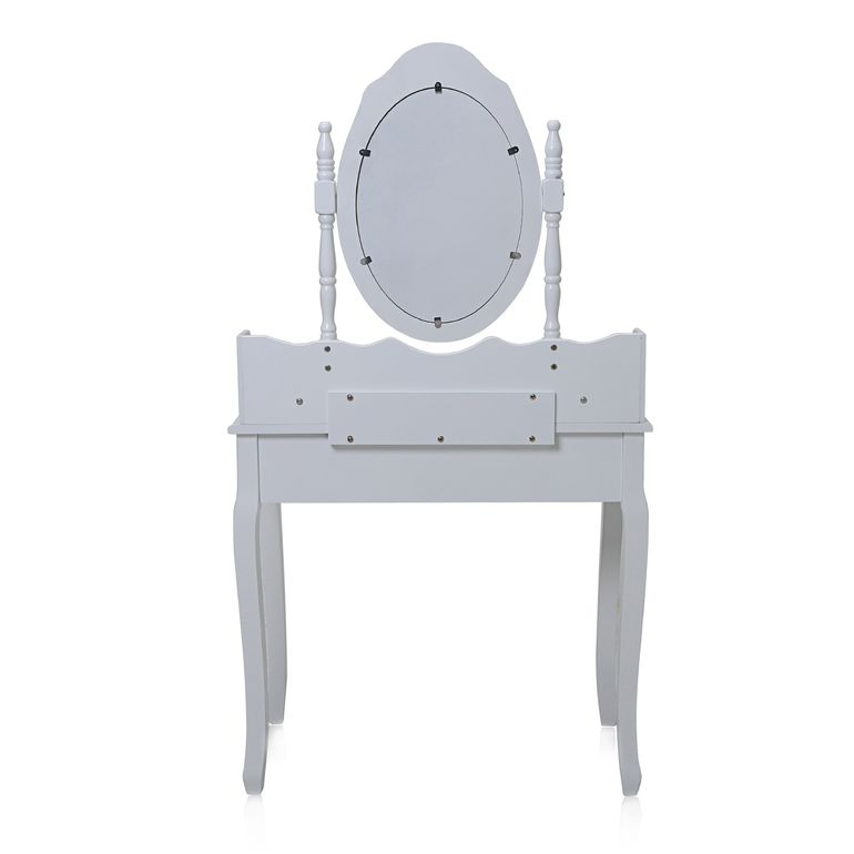 Makika Dressing table / Make-up table CARA with rotatable mirror and padded stool – Bild 4