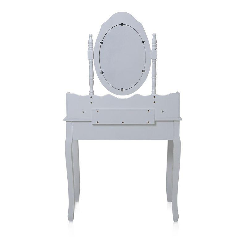 Makika Toeletta per il trucco / Tavolo Cosmetici CARA con Specchiera girevole a 360° e Sgabello – Bild 4