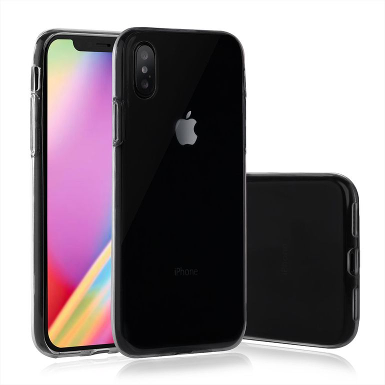 MutuTec iPhone X Apple Phone Case Soft TPU - Transparent Clear  – Bild 1