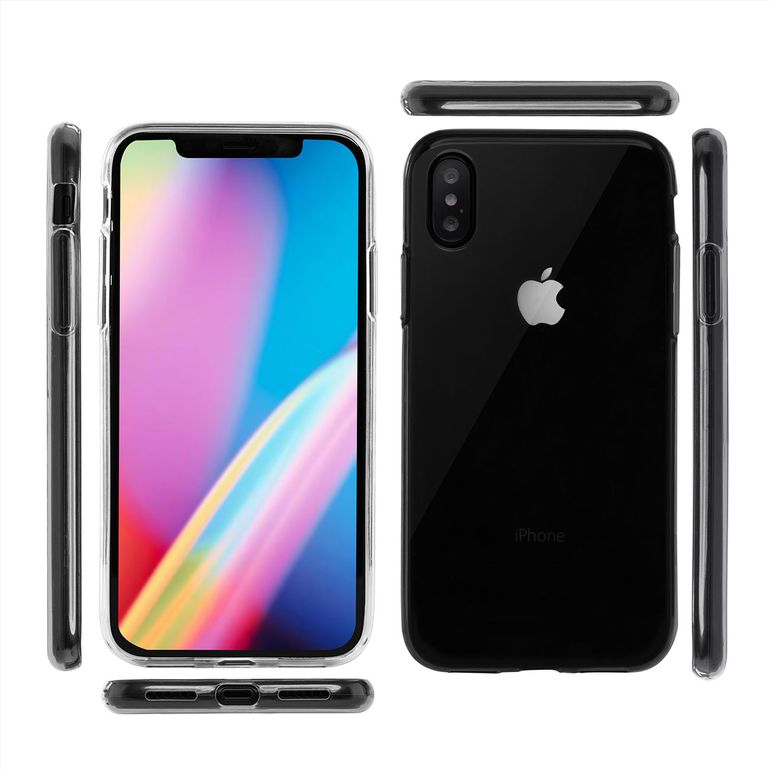 MutuTec iPhone X Apple Phone Case Soft TPU - Transparent Clear  – Bild 2