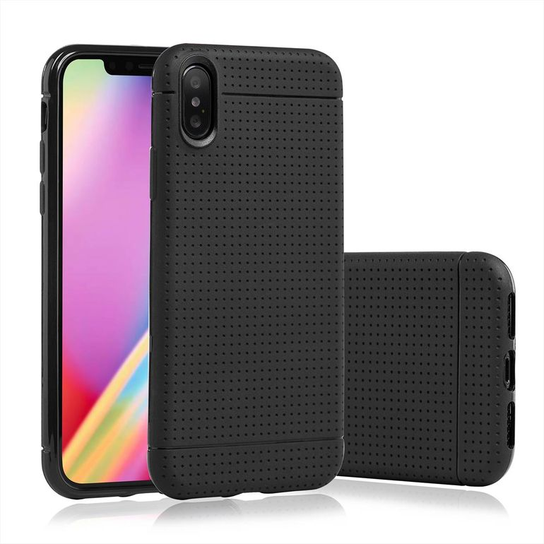 MutuTec iPhone X Apple Phone Case Soft TPU - Black – Bild 1