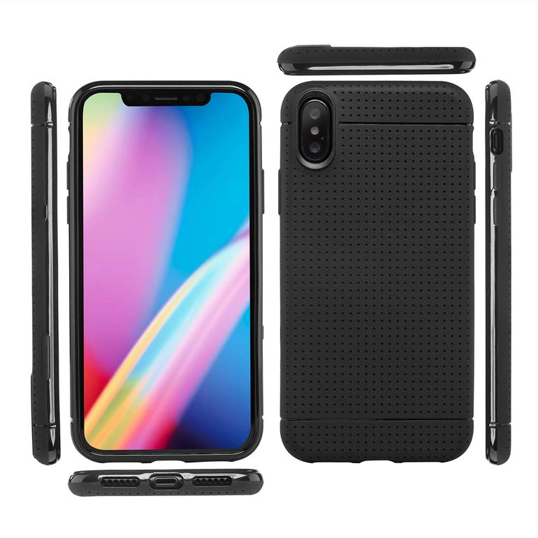 MutuTec iPhone X Apple Phone Case Soft TPU - Black – Bild 2