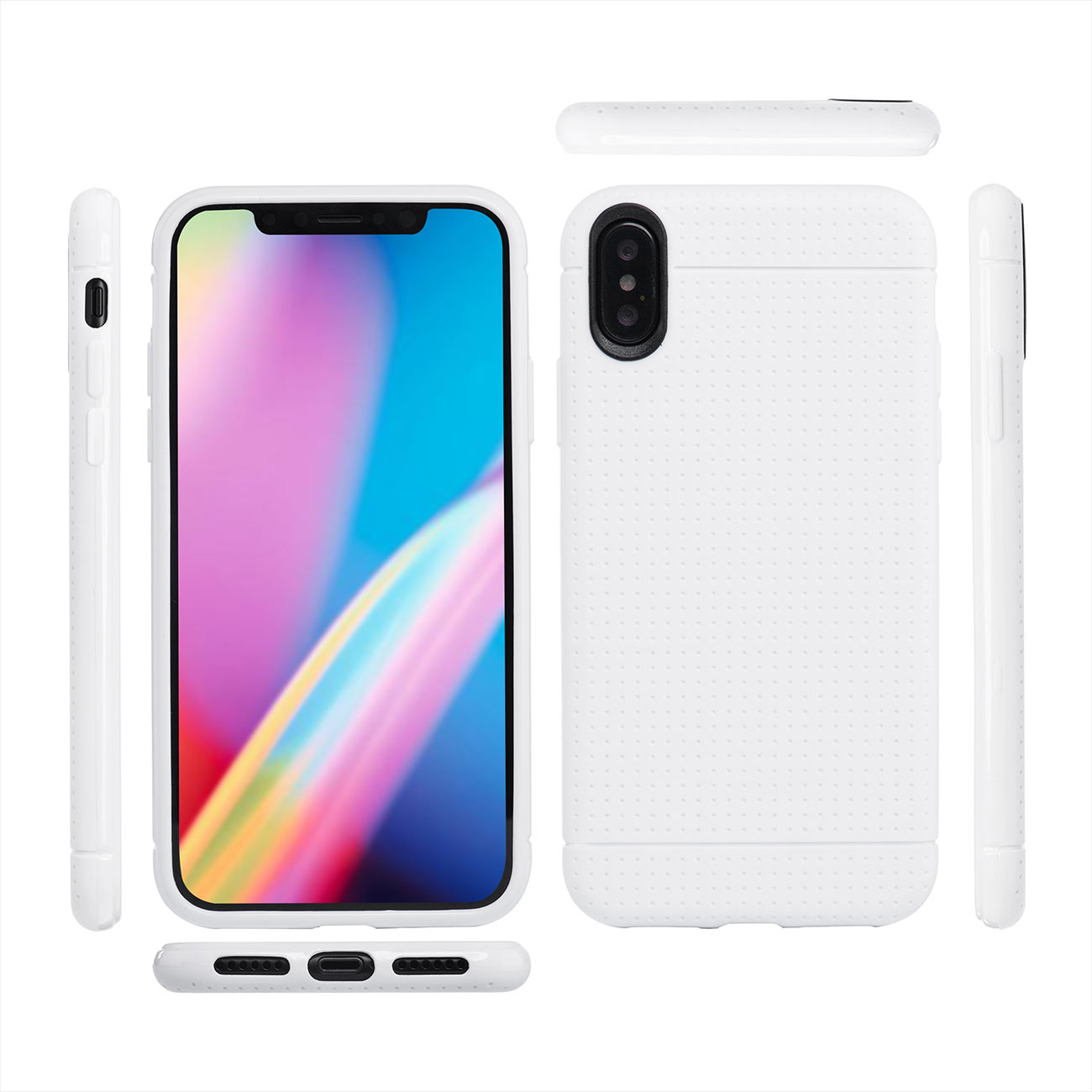 MutuTec iPhone X Custodia Protezione Cover Custodia Rigida - Nero