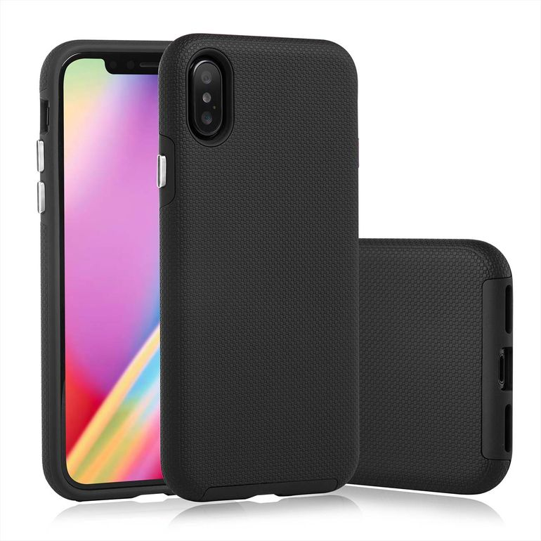 MutuTec iPhone X Apple Phone Hard Case - Black – Bild 1