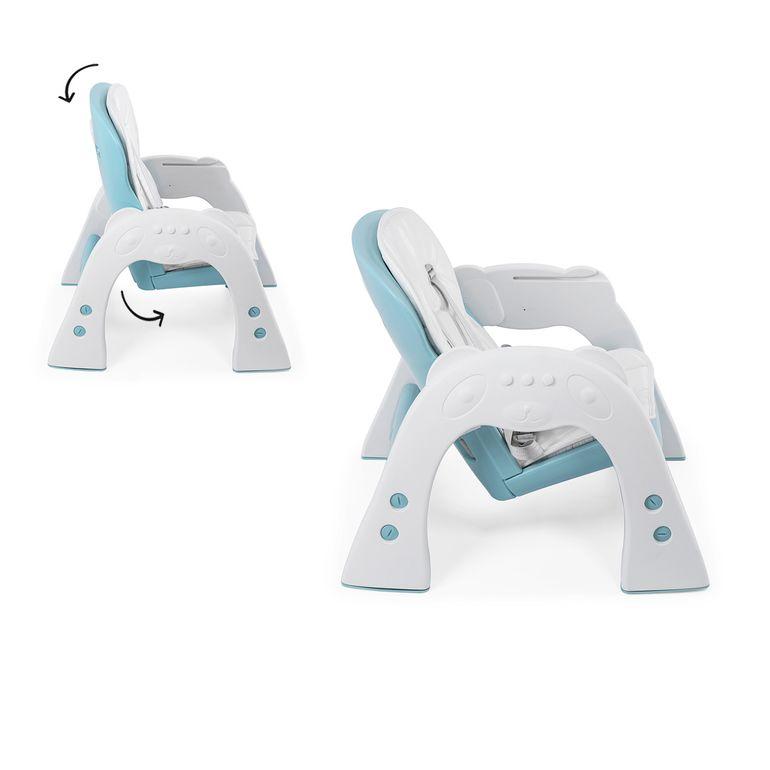 Baby Vivo 2 in 1 Kinderhochstuhl / Kombihochstuhl aus Kunststoff mit Tisch und Rollen - Mara in Mintgrün – Bild 16