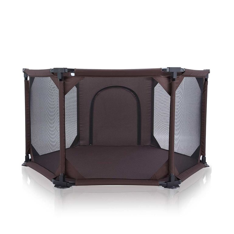 Baby Vivo Baby Child Playpen Flexi Portable / Foldable in Brown - Cornered – Bild 4
