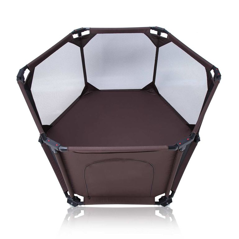 Baby Vivo Baby Child Playpen Flexi Portable / Foldable in Brown - Cornered – Bild 5