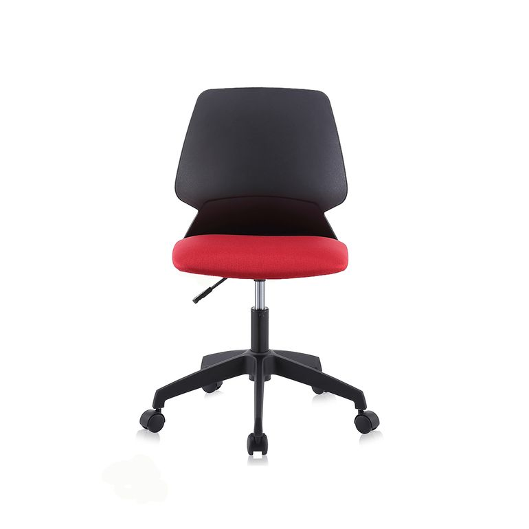 MY SIT Office Chair / Design Stool Swivel Chair NEO with Soft Floor Castors in Black/Red – Bild 2