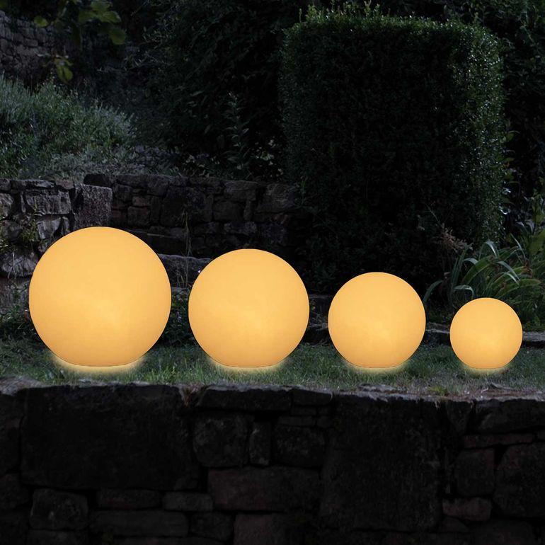 MAXCRAFT Lampade da Giardino a Sfera / Sfera Luminosa - Ø 50 cm Bianco – Bild 3