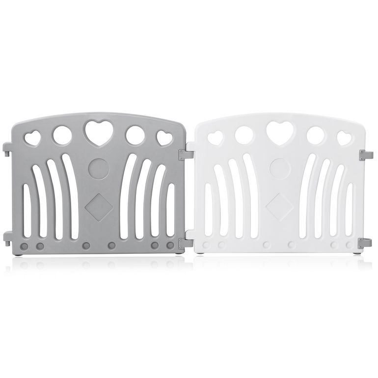 Baby Vivo Playpen Plastic 8 Elements in Grey / White - Judy – Bild 9