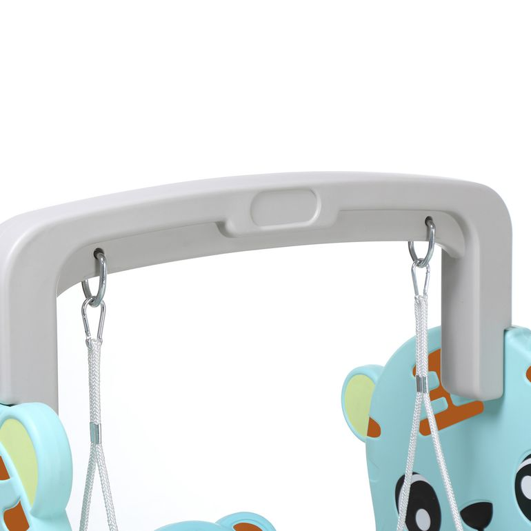 Baby Vivo Kids Swing Playground with Slide for Indoor and Outdoor in Turquoise / Grey – Bild 15