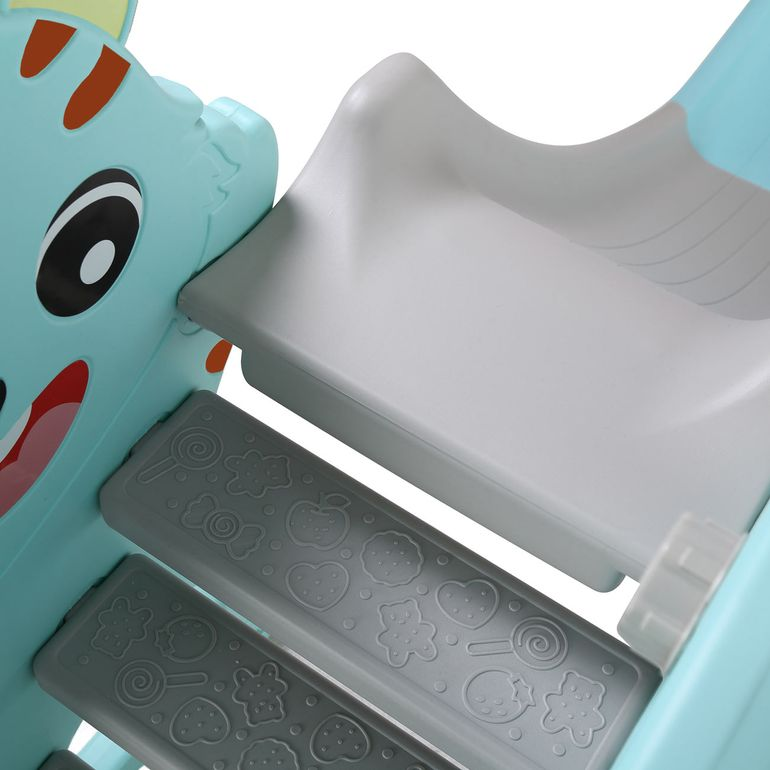 Baby Vivo Kids Swing Playground with Slide for Indoor and Outdoor in Turquoise / Grey – Bild 10