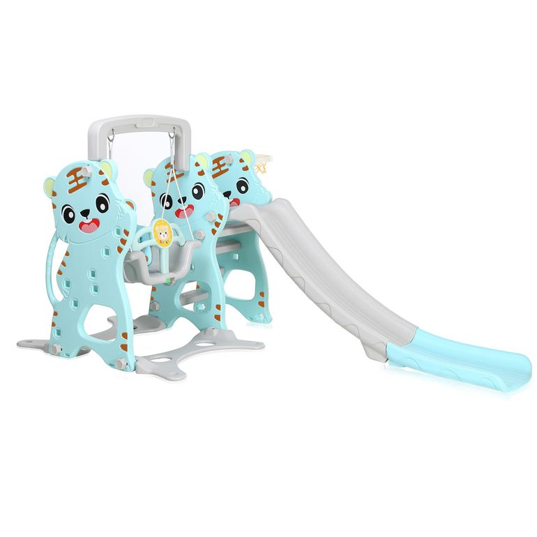 Baby Vivo Kids Swing Playground with Slide for Indoor and Outdoor in Turquoise / Grey – Bild 1