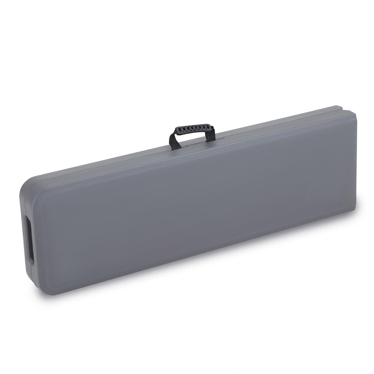 Tisch Klappbar Kunststoff.Strattore Bierzeltgarnitur Aus Kunststoff Klappbar Mit Tisch Und 2 Bänken Aus Kunststoff In Dunkelgrau