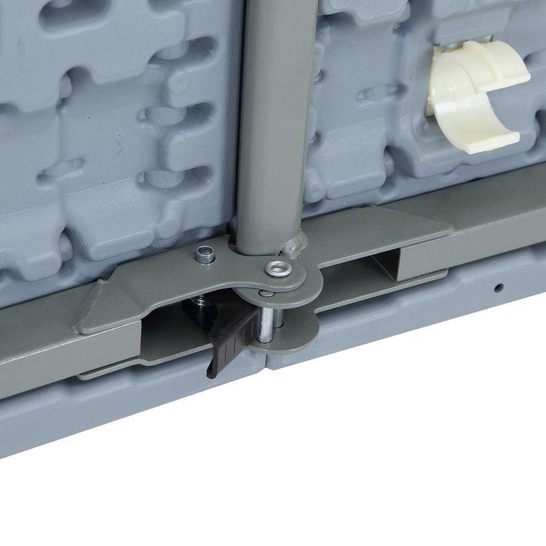 Strattore Bierzeltgarnitur aus Kunststoff klappbar mit Tisch und 2 Bänken - aus Kunststoff in Hellgrau – Bild 10