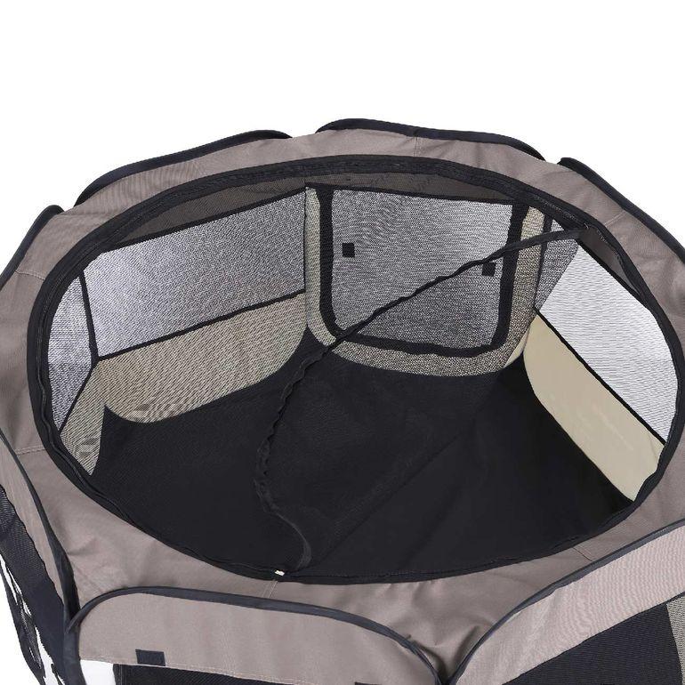 zoomundo Recinto per Cani / Box per Cucciolo 8-Lati Pieghevole in Tessuto - Grande in Grigio – Bild 6