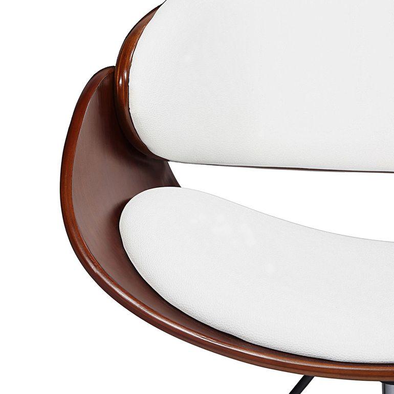 MY SIT Design-Bürostuhl Drehhocker - Hazel in Weiß/Braun - B-Ware – Bild 9