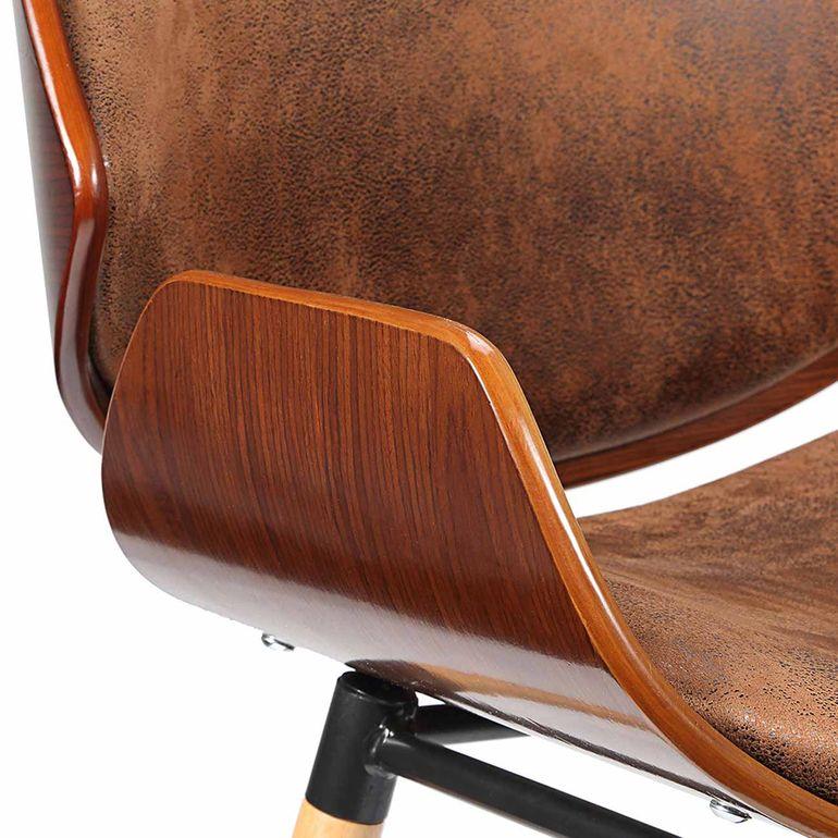 Makika Retro Design-Bürostuhl - Maxim in Braun - B-Ware – Bild 12