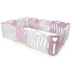 Baby Vivo Laufgitter aus Kunststoff 14 Elemente in Pink / Weiß - Bailey