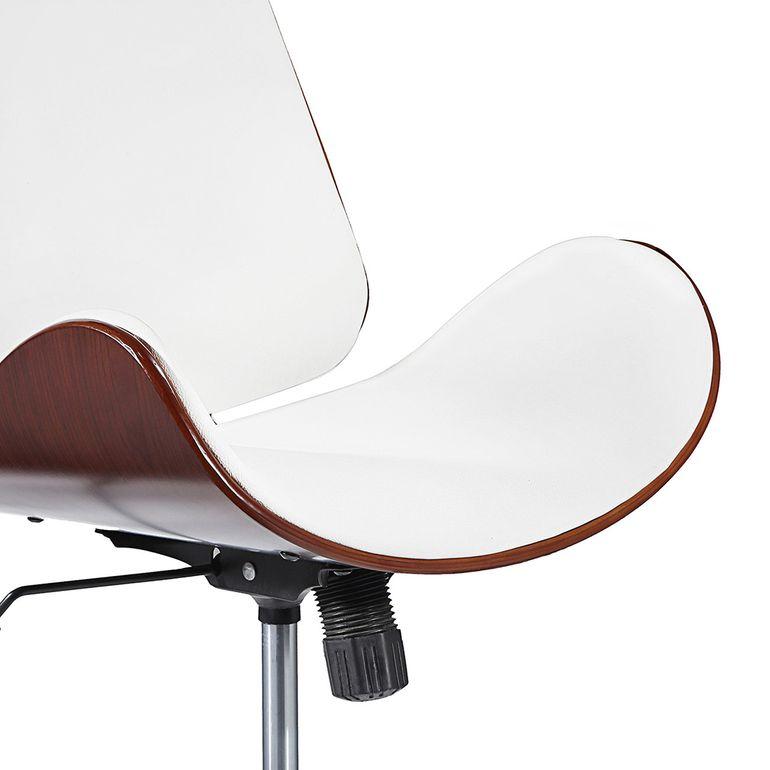 MY SIT Design-Bürostuhl Drehhocker - Constance in Weiß/Braun - B-Ware – Bild 9