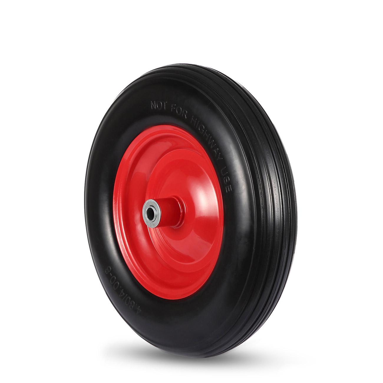 maxcraft roue de brouette pu avec axe noir rouge. Black Bedroom Furniture Sets. Home Design Ideas