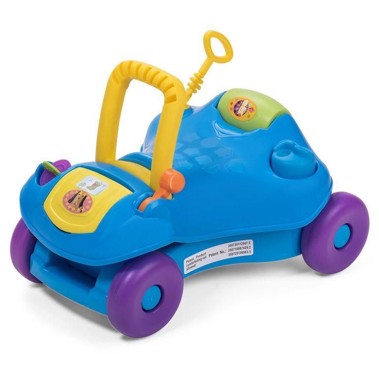 Baby Vivo 2in1 Lauflernwagen / Lauflernhilfe Multifunktional - Rutschauto in Blau – Bild 2