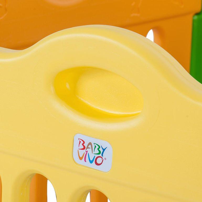Baby Vivo Laufgitter aus Kunststoff 4-Eck Hauptpaket - Erweiterbar - B-Ware – Bild 5