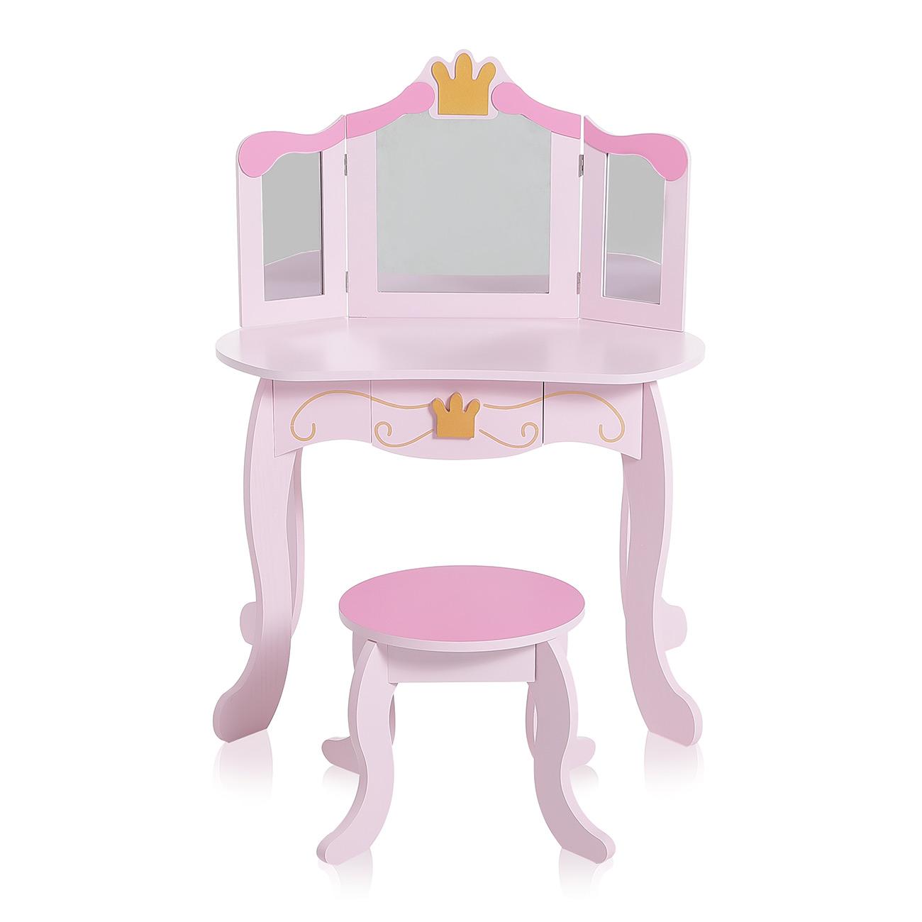 enfant coiffeuse table de maquillage miroir vanit meuble tabouret baby vivo ebay. Black Bedroom Furniture Sets. Home Design Ideas
