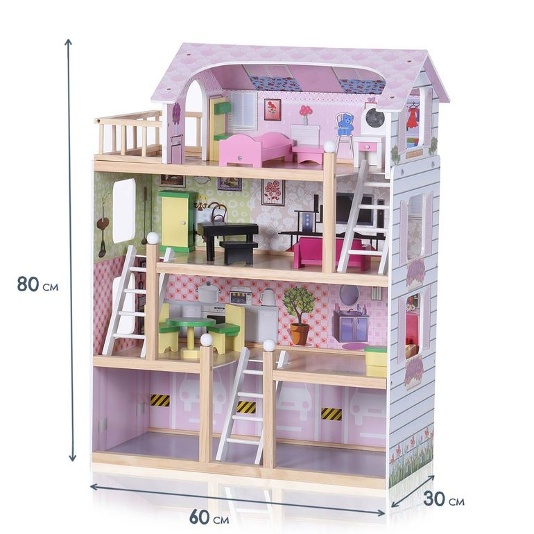 Baby Vivo Wooden Doll House Lavinia with Accessories – Bild 4