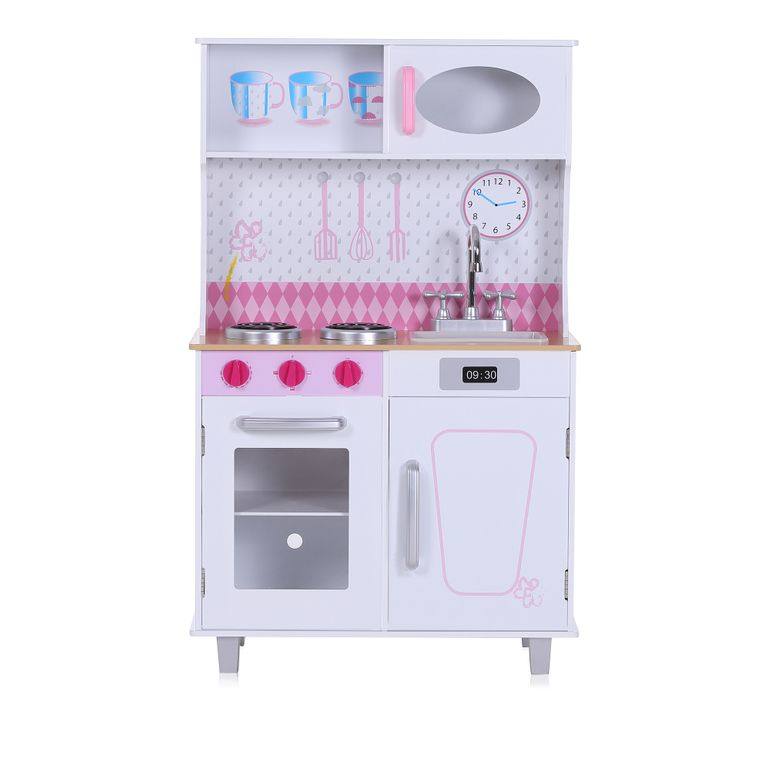 Baby Vivo Wooden Play Kitchen for Children - Romy in White – Bild 2
