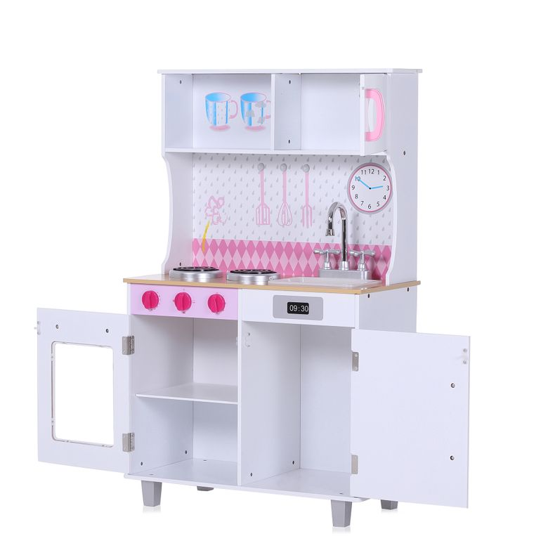 Baby Vivo Wooden Play Kitchen for Children - Romy in White – Bild 3