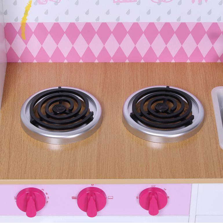 Baby Vivo Kinderküche Spielküche aus Holz - Romy in Weiß – Bild 8