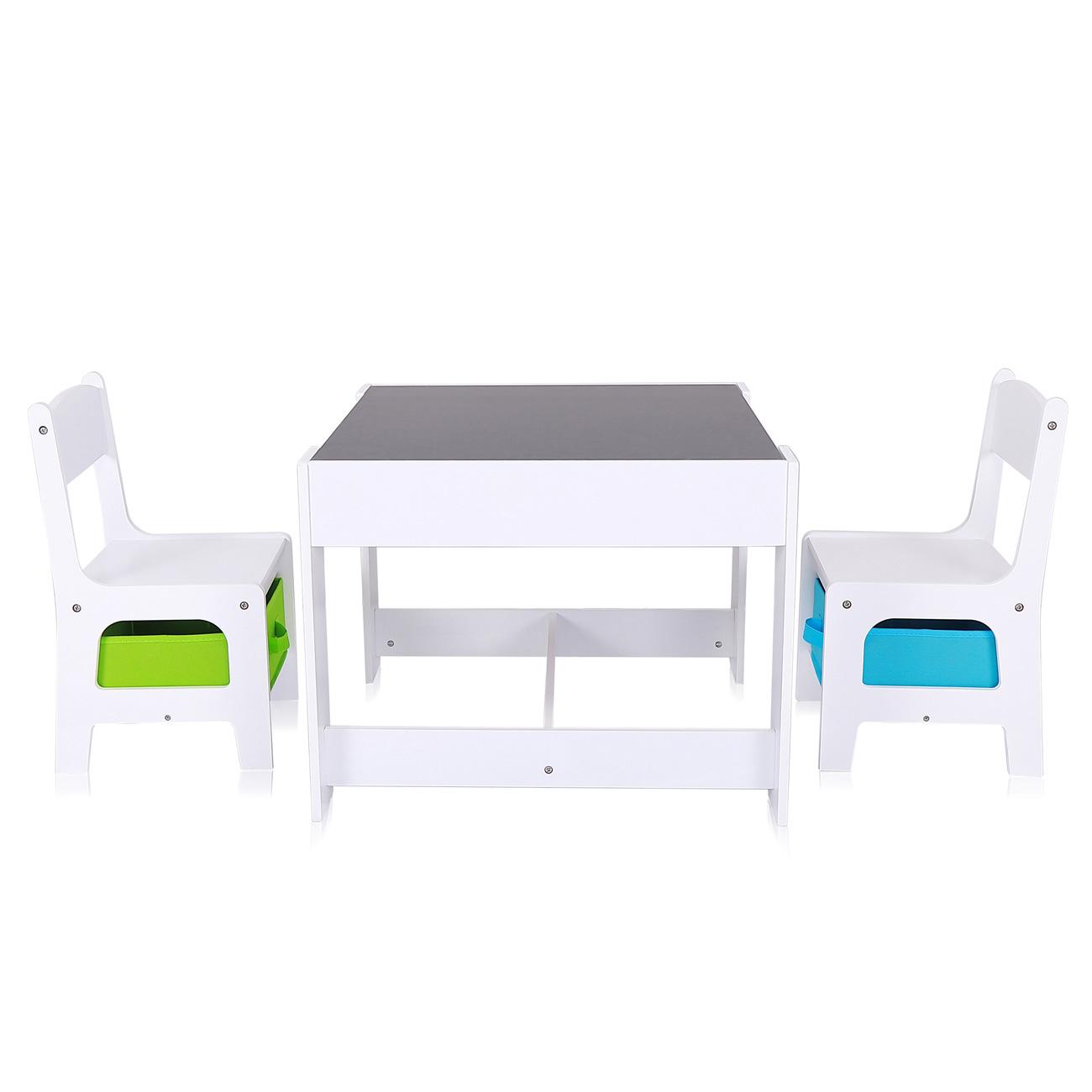 Baby Vivo Kindersitzgruppe Mit Multifunktionalem Tisch Und 2 Stuhlen