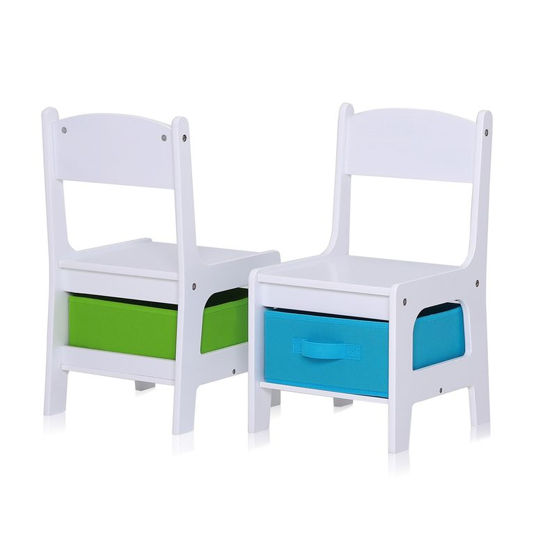 Baby Vivo Set Children's Activity Table with 2 Chairs made of Wood - Max – Bild 9