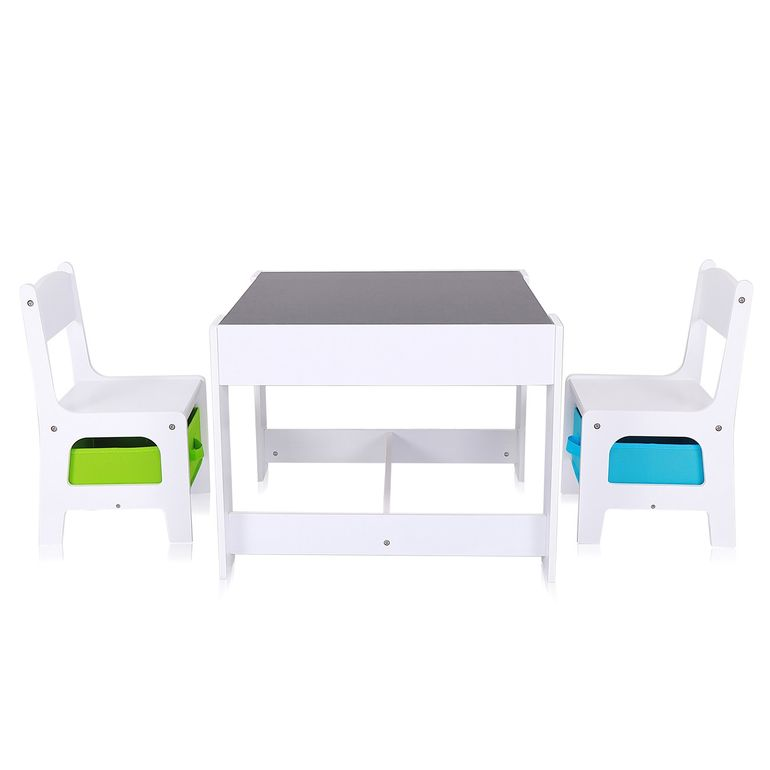 Baby Vivo Set Children's Activity Table with 2 Chairs made of Wood - Max – Bild 3