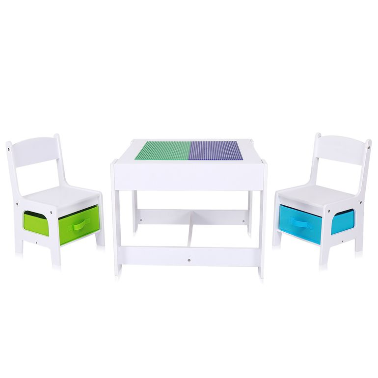 Baby Vivo Set Children's Activity Table with 2 Chairs made of Wood - Moritz – Bild 1