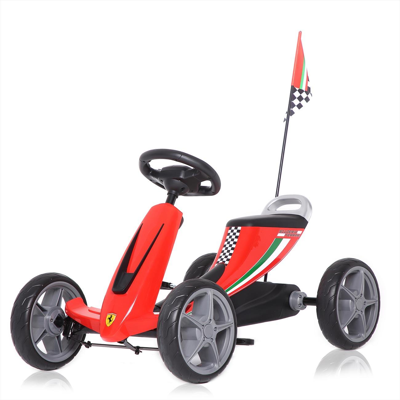 officially licensed ferrari go kart for children in red | ma trading